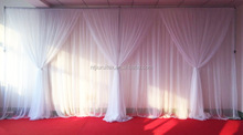 3mHx6mW wedding/ christmas/ birthday/ party stage decoration backdrop curtains with tape at back with drapes in voile material