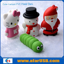 funny cartoon pvc power bank for smartphone