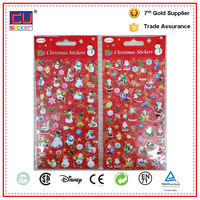 Christmas decoration puffy snowman 3d foam sticker for vinyl material