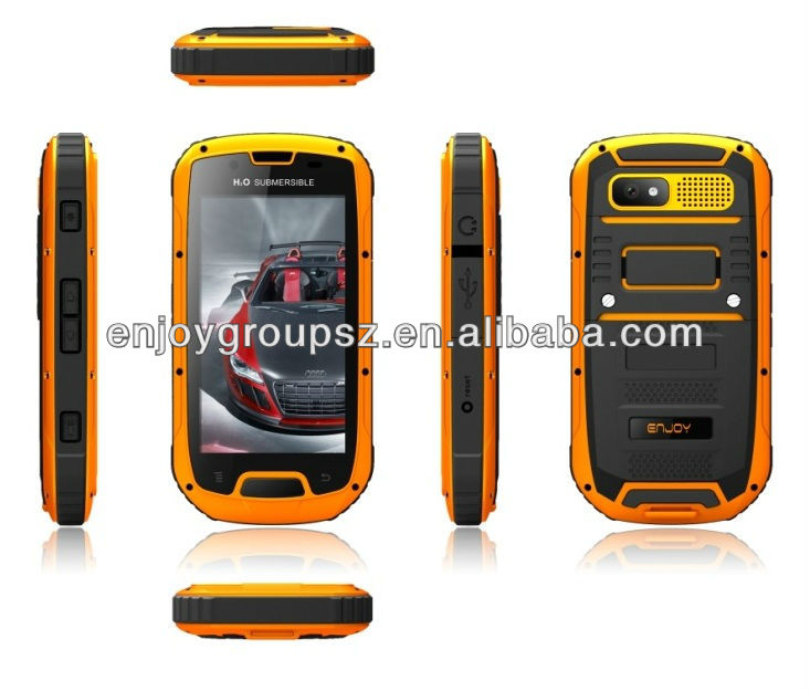 4.3inch ip68 waterproof dual sim unique shape rugged cell phone mobile phones with ptt
