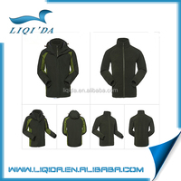 Newest design china 3 in 1 waterproof polyester outdoor jacket men 2016