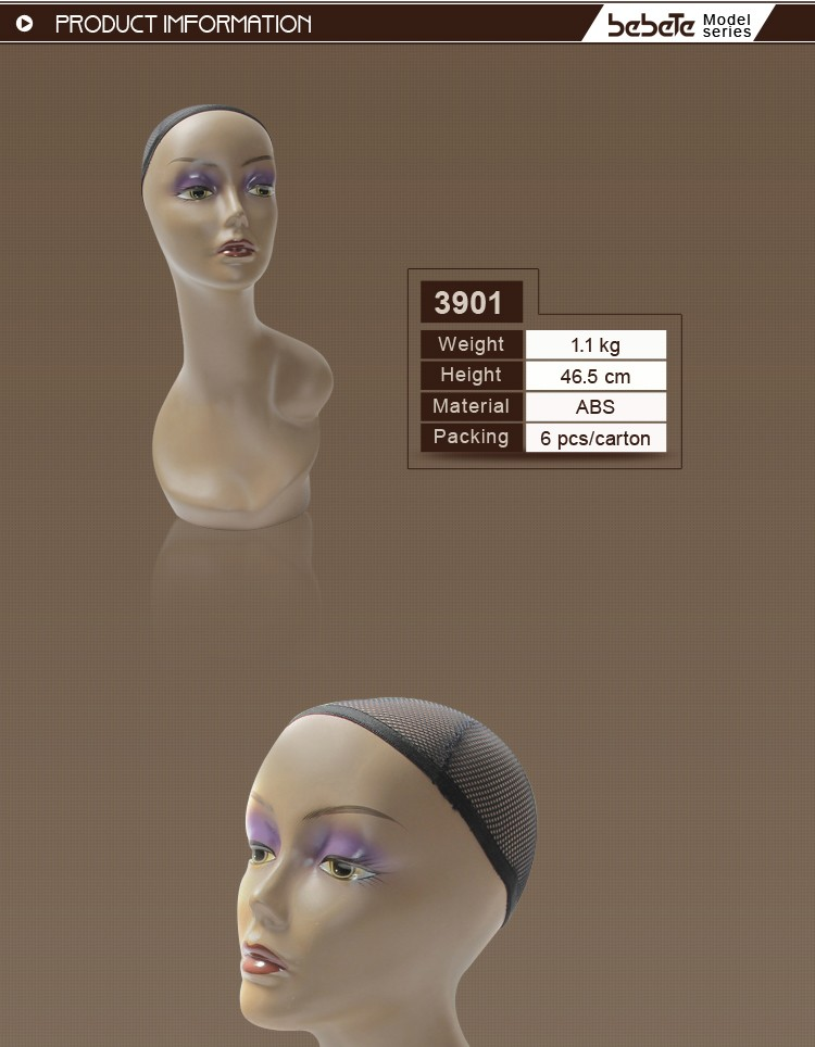 Female Mannequin Head Dummy Wig Display Stand Retail Shop