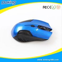 High quality blue USB optical cool wireless mouse