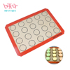 Custom Fiberglass Silicone Macaron Baking Mat With Custom Printing