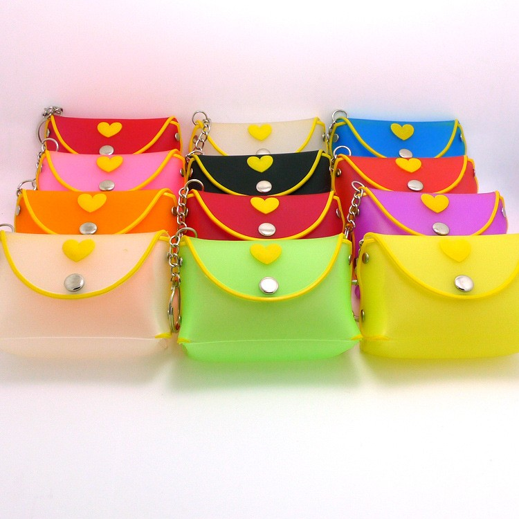 Fashion promotion gift silicone shoulder bag with candy colors