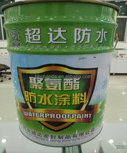 For floor tiling single component water based black polyurethane liquid rubber waterproofing