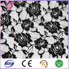 Polyester/nylon/cotton cord embroidery stretch lace fabric made in china