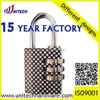 brass travel combination luggage padlock,lock with different designs
