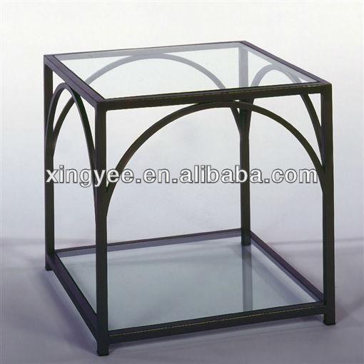 Classique h tel chambre chevet meubles table basse table - Table de nuit en verre ...