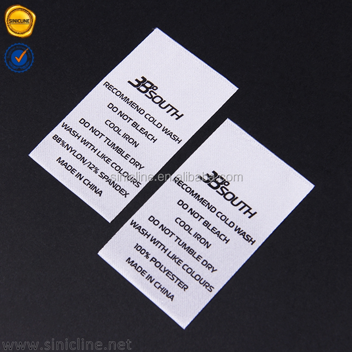 Sinicline 2016 great sale film touch cheap printed material polyester care label
