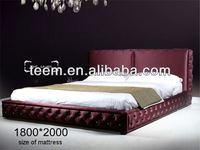 New Type Bed 2013 Hot Sale roman pillar furniture