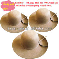 wholesale camel big felt Vacation Floppy hats female hair caps lana sombrero cap wear in festival ,Party,Winter for ladies new