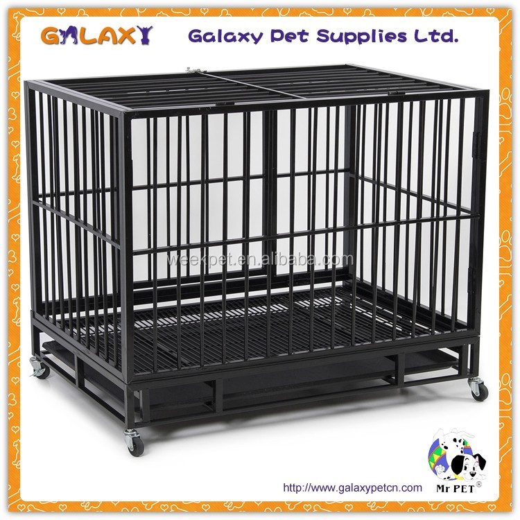 wholesale puppy play pen; wooden dog cage; two door pet cage
