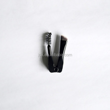 Cosmetics Folding Double Eye Brow Mini Make up Mascara Brush