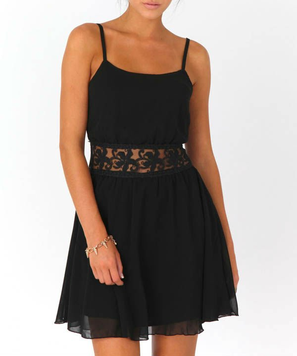 Wholesale fashion casual black ladies dress