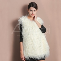 faux fur vest/wholesale faux fur vest