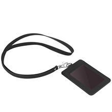 pu leather business name tag id badge credit card holder