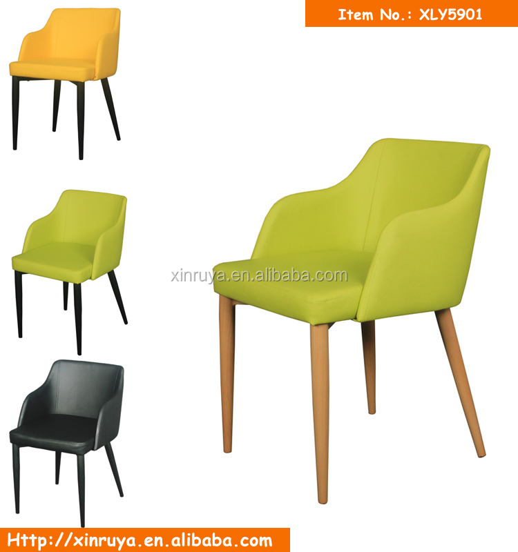 Colorful dining chair with armrest for sale home furniture