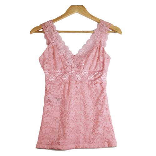 N20034 Sexy Deep V Collar Woman Camisole Fashion Western Double Layer Lace Ladies Tanktop