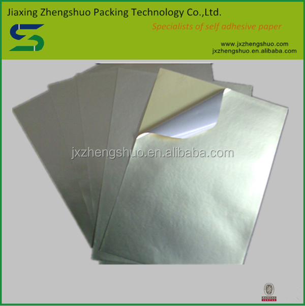Chinese supplier matt silver self-adhesive aluminum sticker