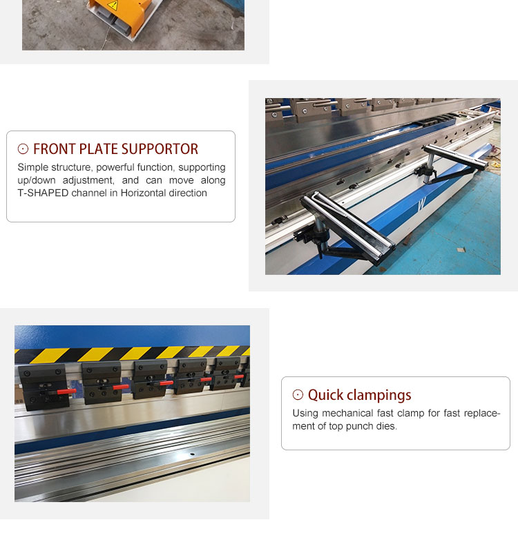 High Quality WC67K-30Ton/1600 Hydraulic Small Press Brake
