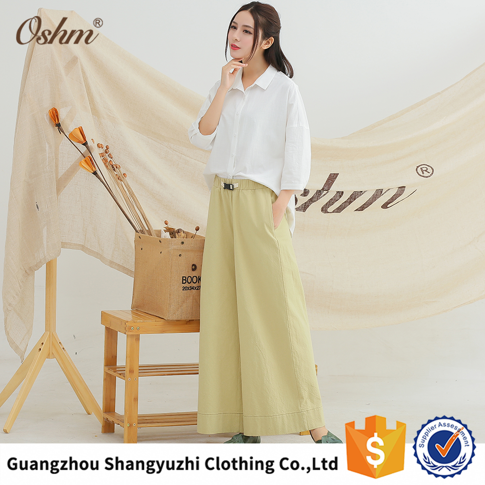C1581 Cheap cotton material white khaki pants and trousers for summer