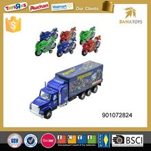 Hot item container model trailer truck with racing car
