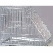 Sloping Metal Dog Cage With Metal Tray
