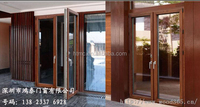 Factory direct sale aluminium glass door design manufacture in shenzhen