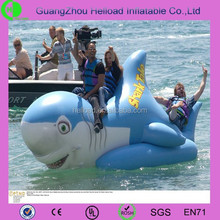 water swimming inflatable blue sharks plastic cartoon toys for sell