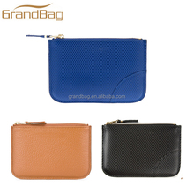 classic design mini leather zipper wallet fashion business men leather wallet women cheap PU leather purse