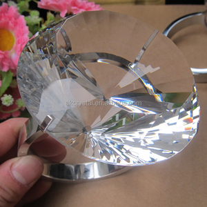 Factory price wedding favous clear glass crystal napkin rings crystal diamond napkin holder