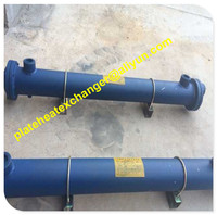 oil cooler shell and tube, hydraulic oil water cooler