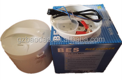 Solar DC 12V/24V hot sale battery powerd electric rice cooker 3L/4L/5L