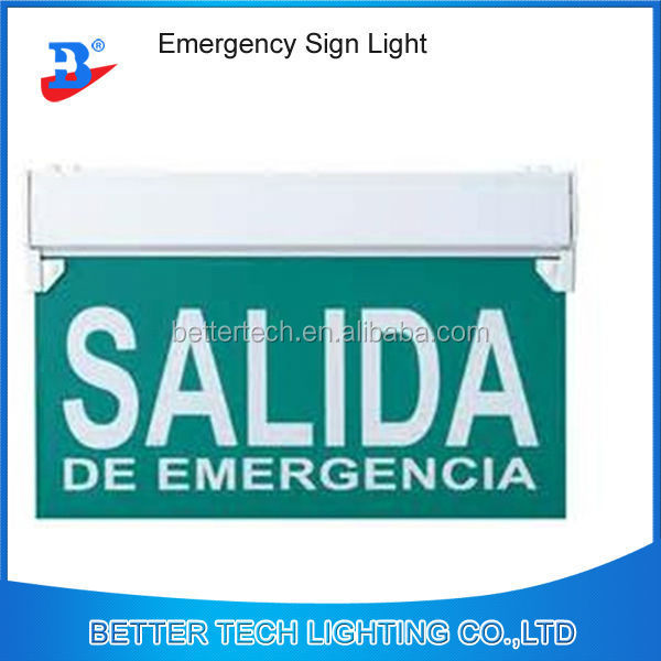 salida de emergencia maintained hanging exit sign