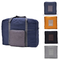 large capacity tote duffel bag handle folding travel luggage bag
