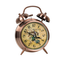 Pink alarm twin bell clock retro alarm clock for home decor