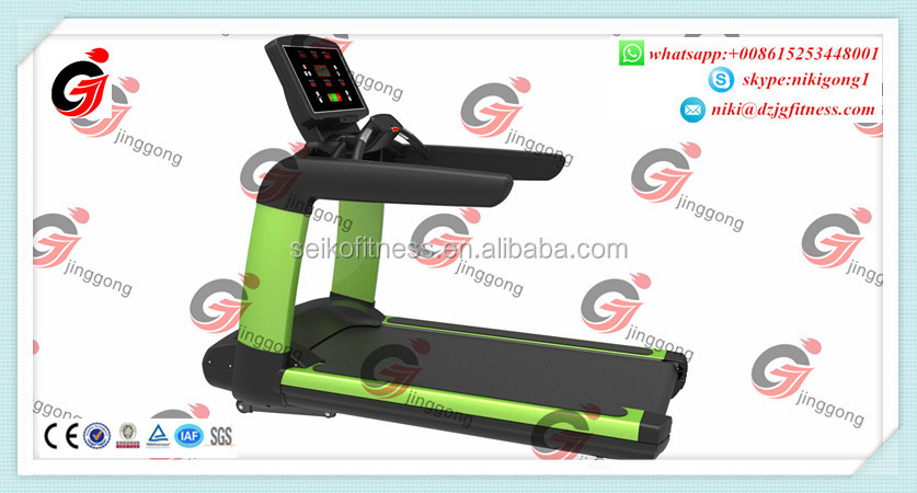 2017 New CE Fitness <strong>equipment</strong>/gym machine commercial cardio treadmill with TV/kayboard JG9500