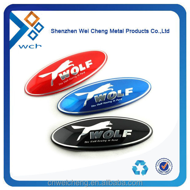 Custom Silver thin Metal Sticker With 3M adhesive