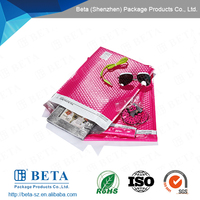 Colored Poly Bubble Mailer, Shining Pink Poly Envelopes, Pink Plastic Bag