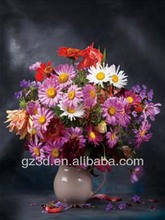 hot selling PET 3D flower picture for home decoration 5054