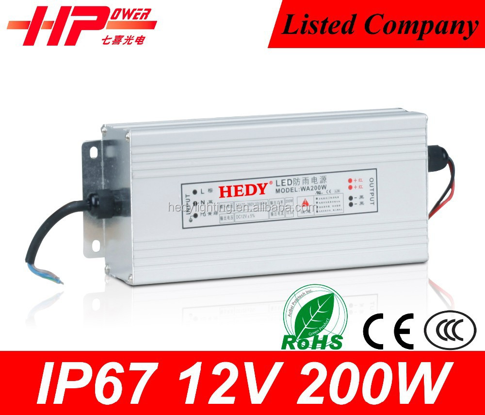 Professional factory provide waterproof electronic led driver constant voltage 200w led driver 12v