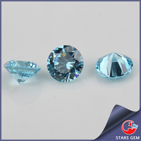 synthetic gem cz round blue lab created topaz stones, gem stones