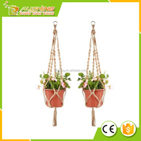 Wholesale Plant Hanger Macrame Jute 4 Legs 48 Inch with Beads AM6832, #1 Best Recommended