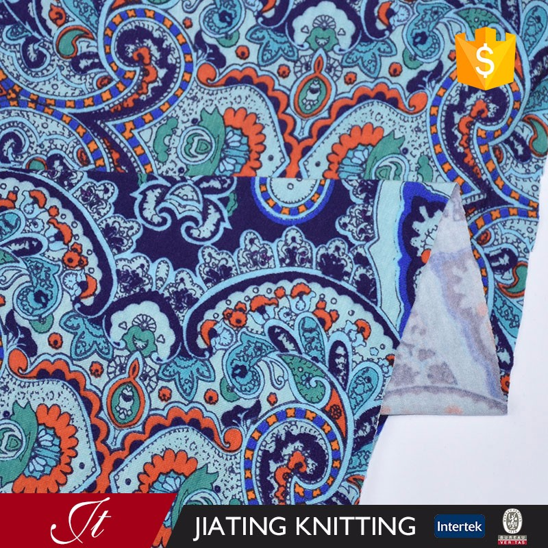 95% Rayon 5% spandex jersey printed knitting fabric/Elastic knitted fabric