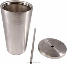 Newest Stainless Steel 16oz Tumbler Travel Cup with straw and metal lid,Stainless steel drinking cup ice cold tumbler