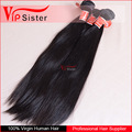 Raw unprocessed wholsale 100% natural straight indian human hair bundles
