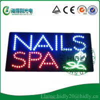 Custom design Indoor LED beauty sign for NAILS SPA