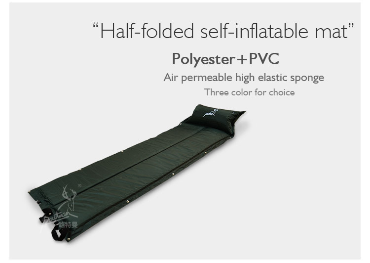 High elasticity folding self-inflatable camping mat