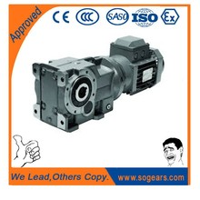 KF128 helical worm geared motor for ball mill machine